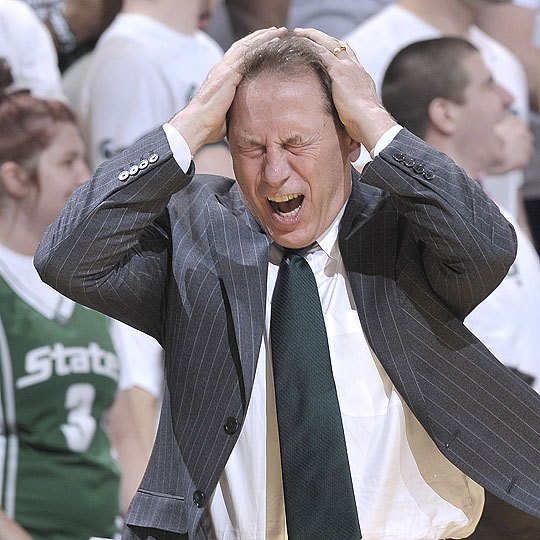 Image result for tom izzo angry
