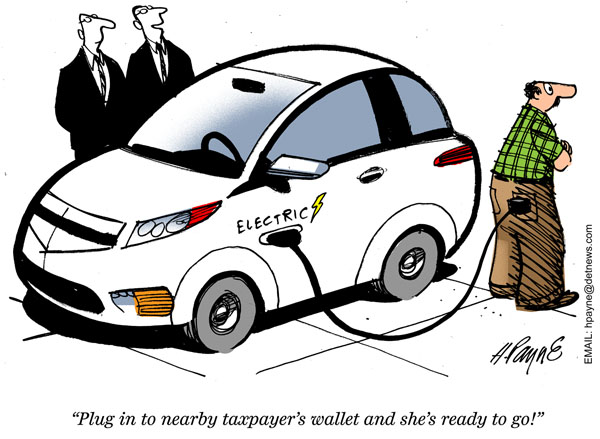Image result for GWPF electric cars cartoon