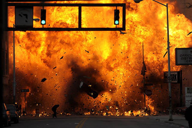 Movie Explosion Movie explosion rocks downtown Running Away From Explosion Gif