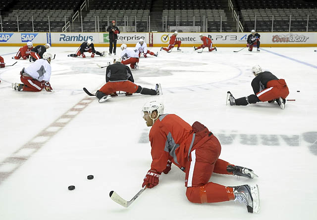 Red Wings practice in San Jose