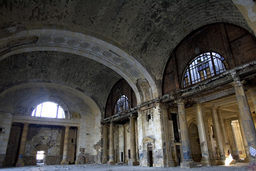 Inside the  Michigan Central Depot