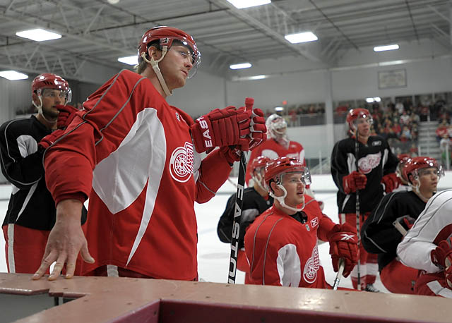 Day 2 of Red Wings training camp