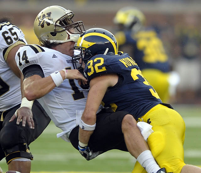 U-M beats WMU 34-10 in rain-shortened game