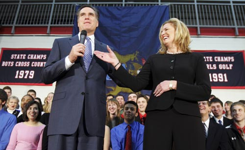 ann romney young. Ann romney reaches to take the